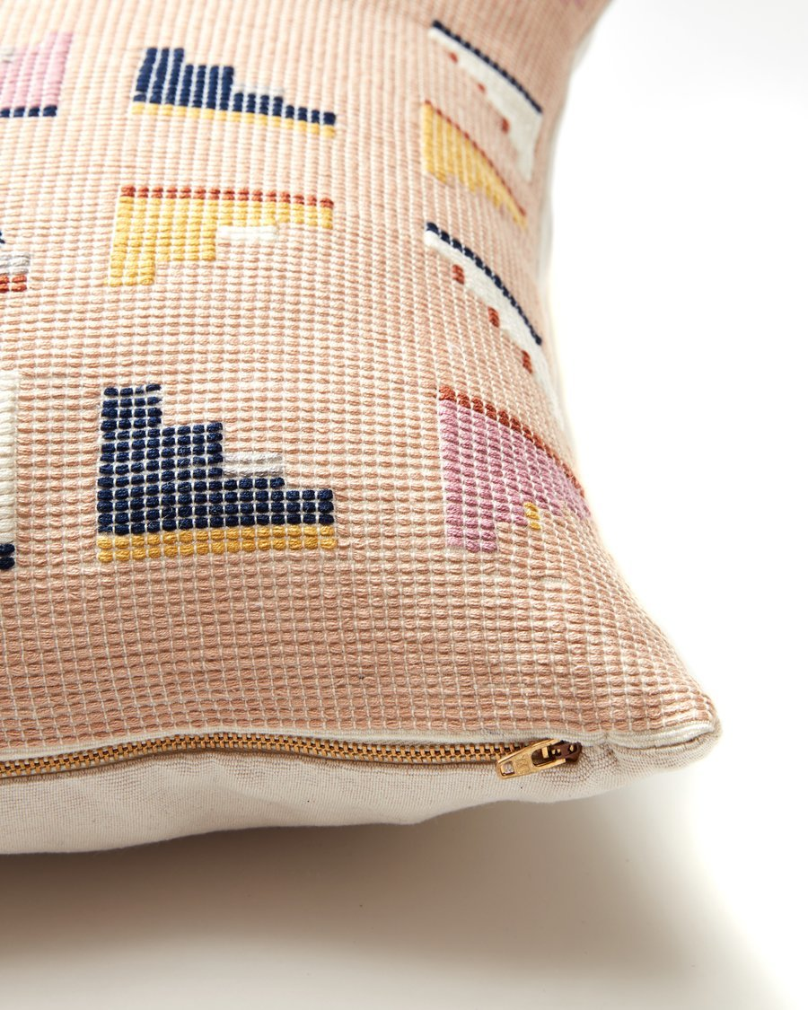 Minna barragan pillow peach detail
