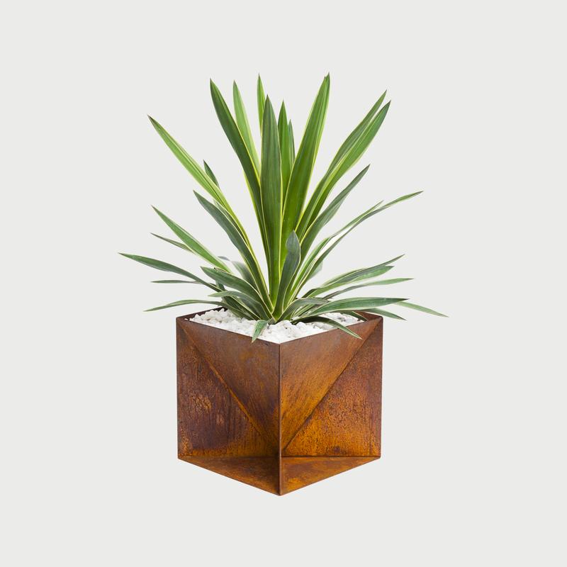Origamiplanterweatheringsteel