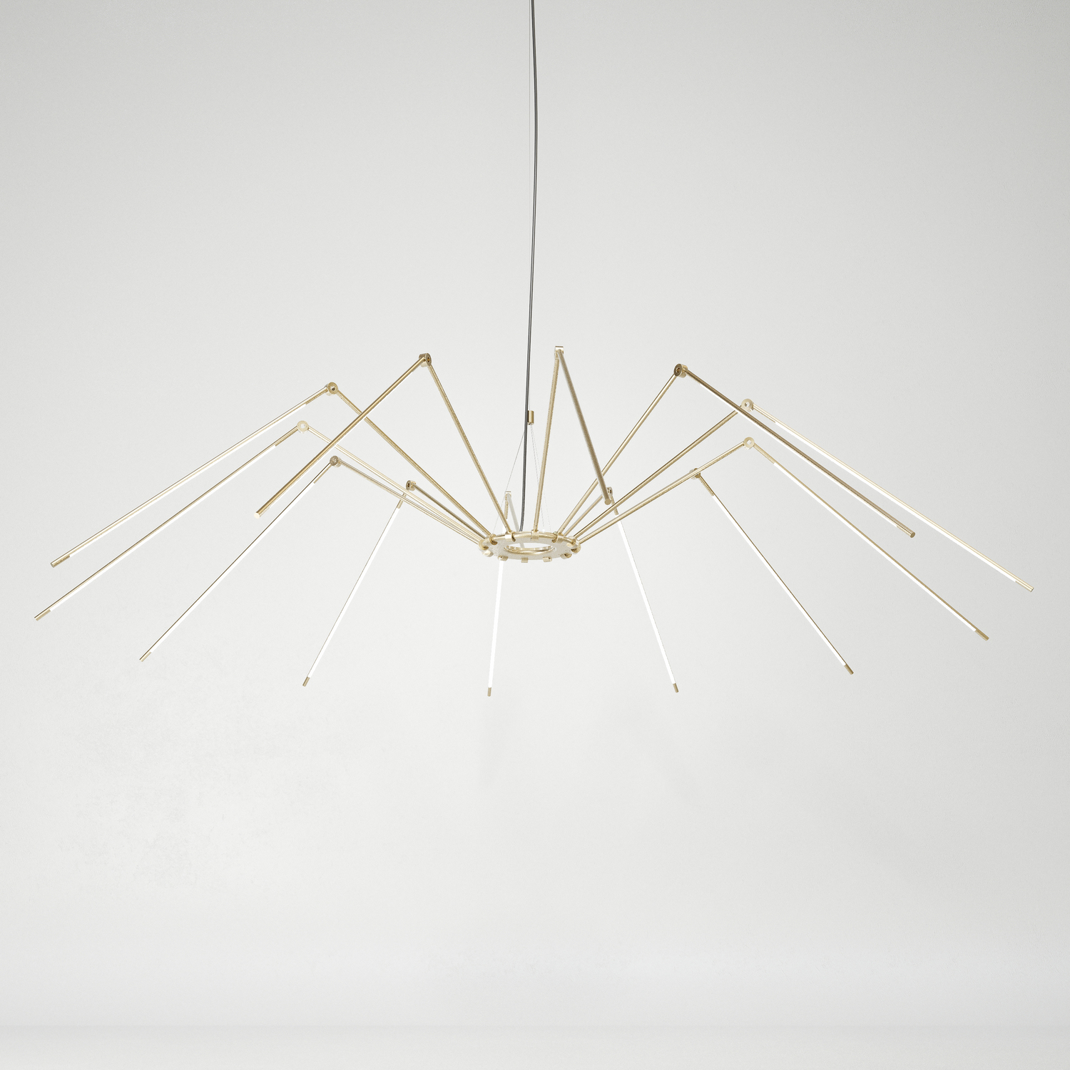 Juniper thin chandelier spider brass hr