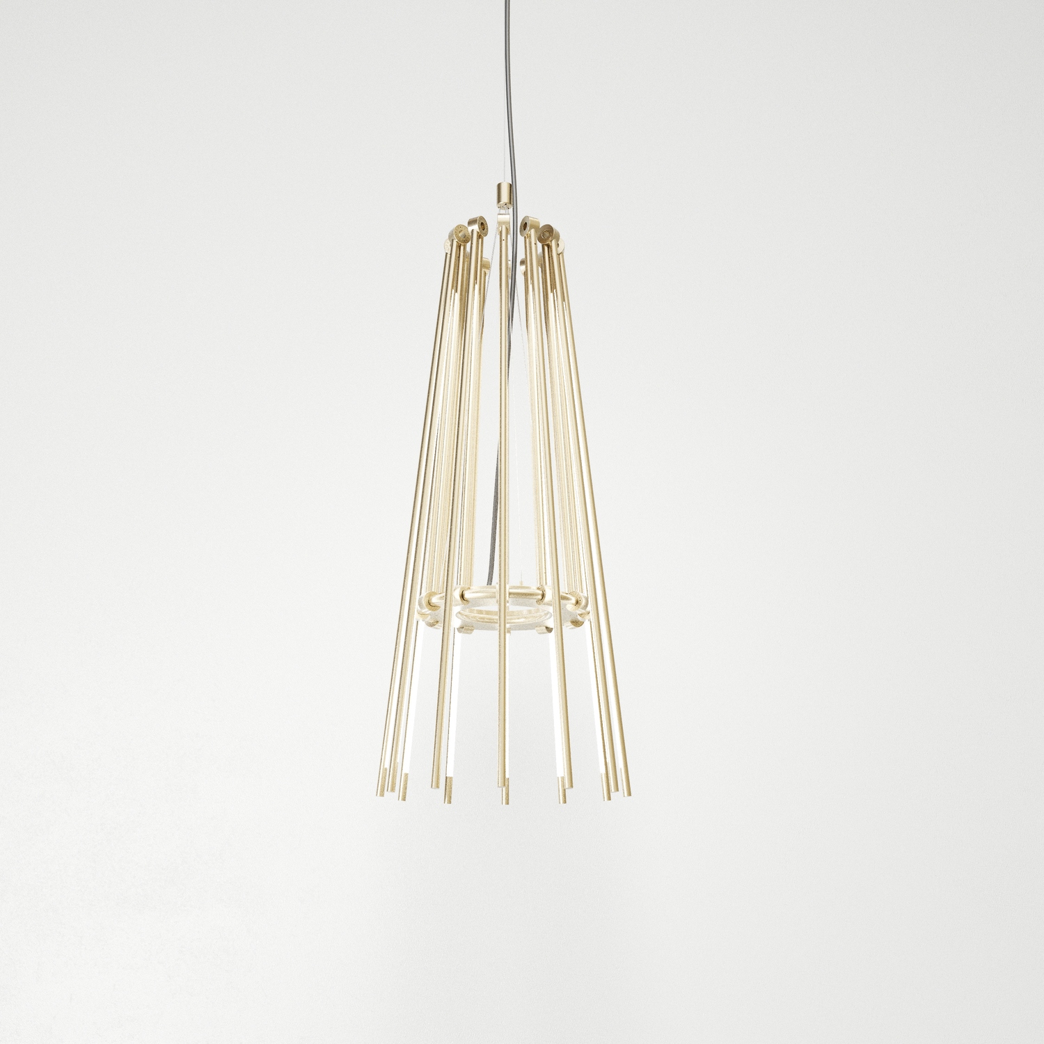 Juniper thin chandelier full collapse brass hr