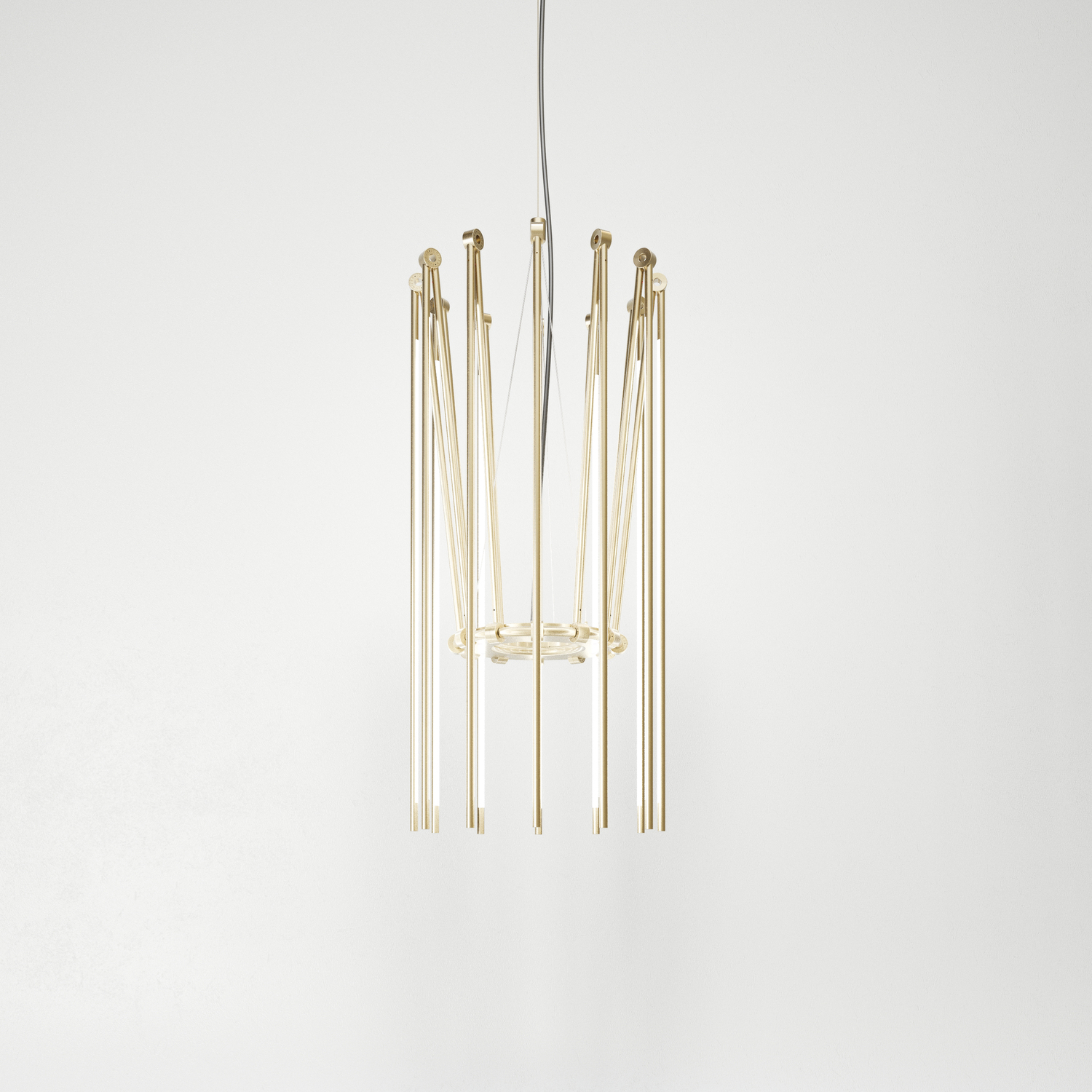 Juniper thin chandelier collapsed brass hr