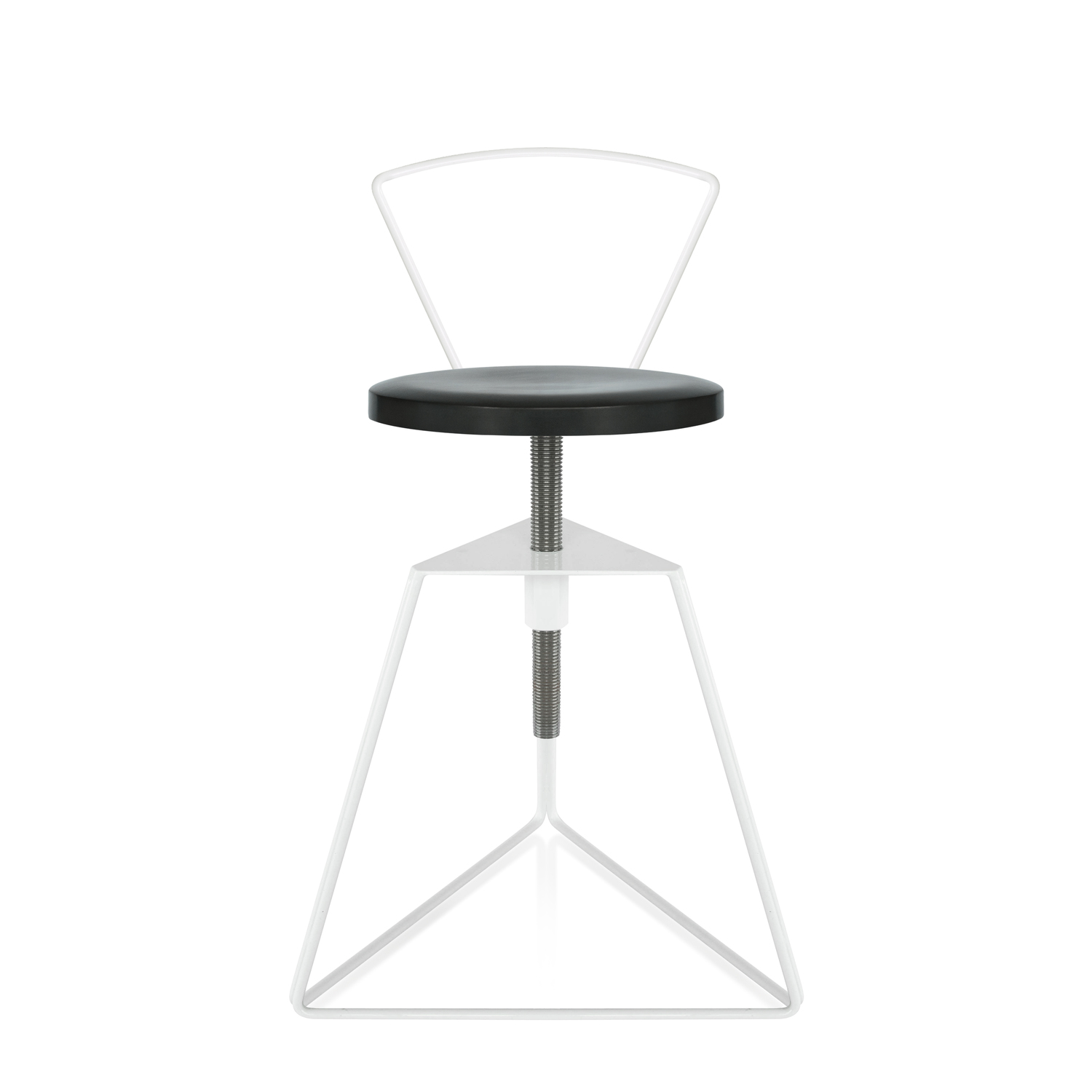 Charcoal seat white base front backrest