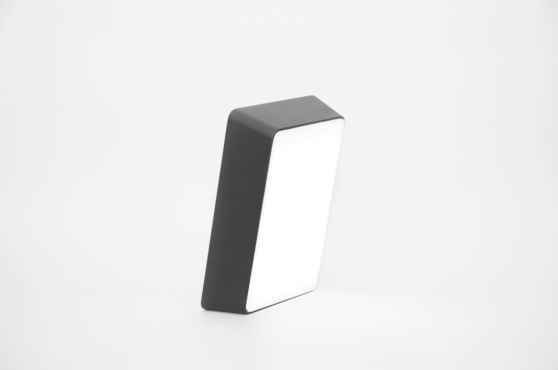 Brick lamp metal black 01
