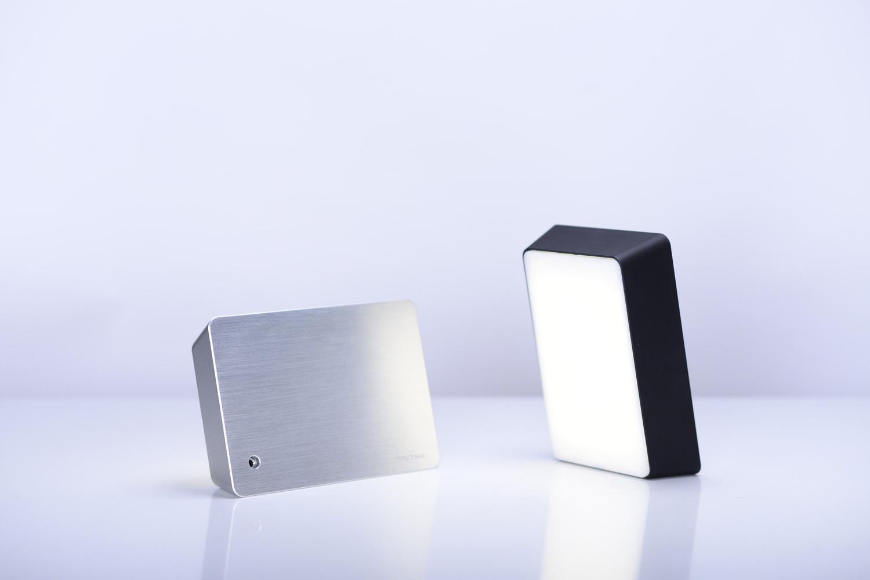 Brick lamp metal silver 07