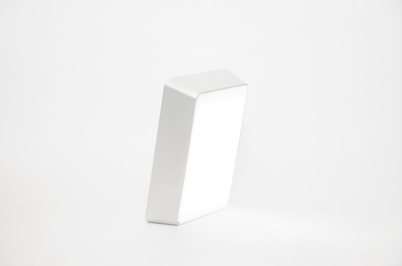 Brick lamp metal silver 02