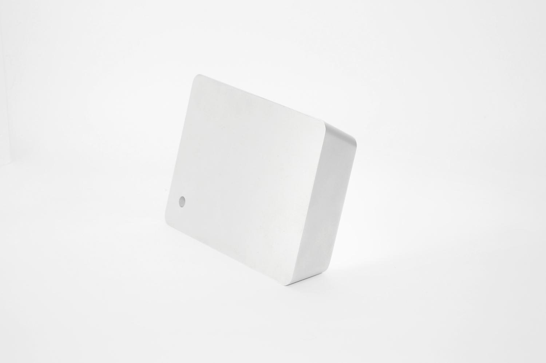 Brick lamp metal silver 03