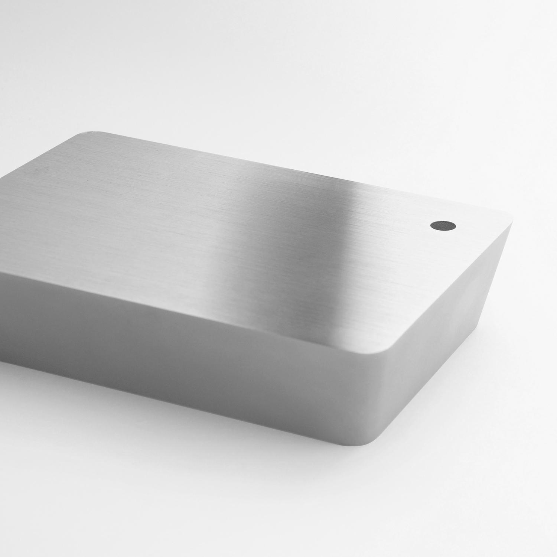 Brick lamp metal silver 05