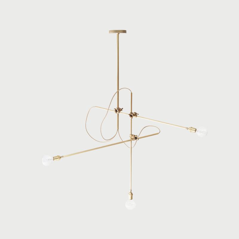 Brass chandelier main