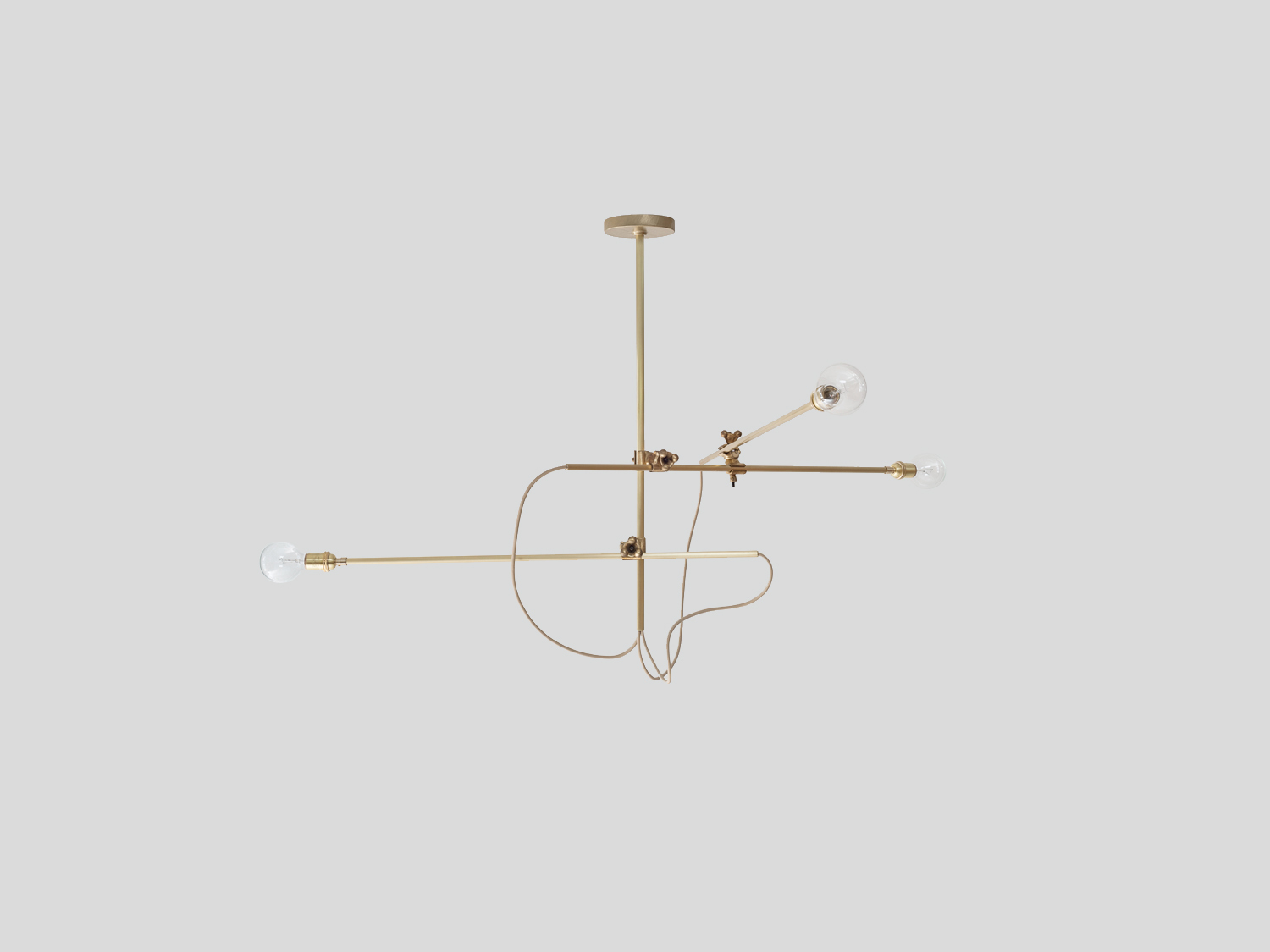 Brass chandelier horizontal
