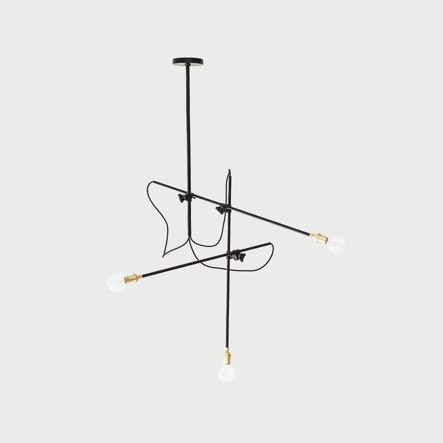 Industrial chandelier vertical 1