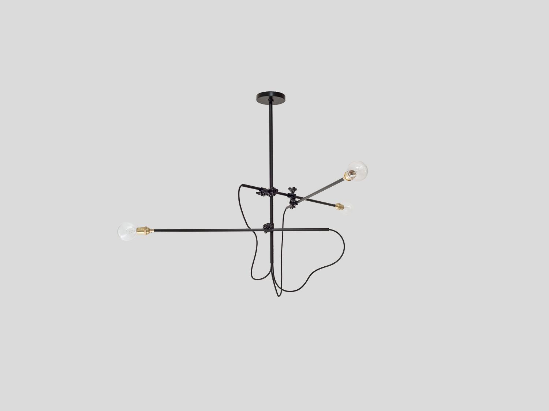 Industrial chandelier horizontal