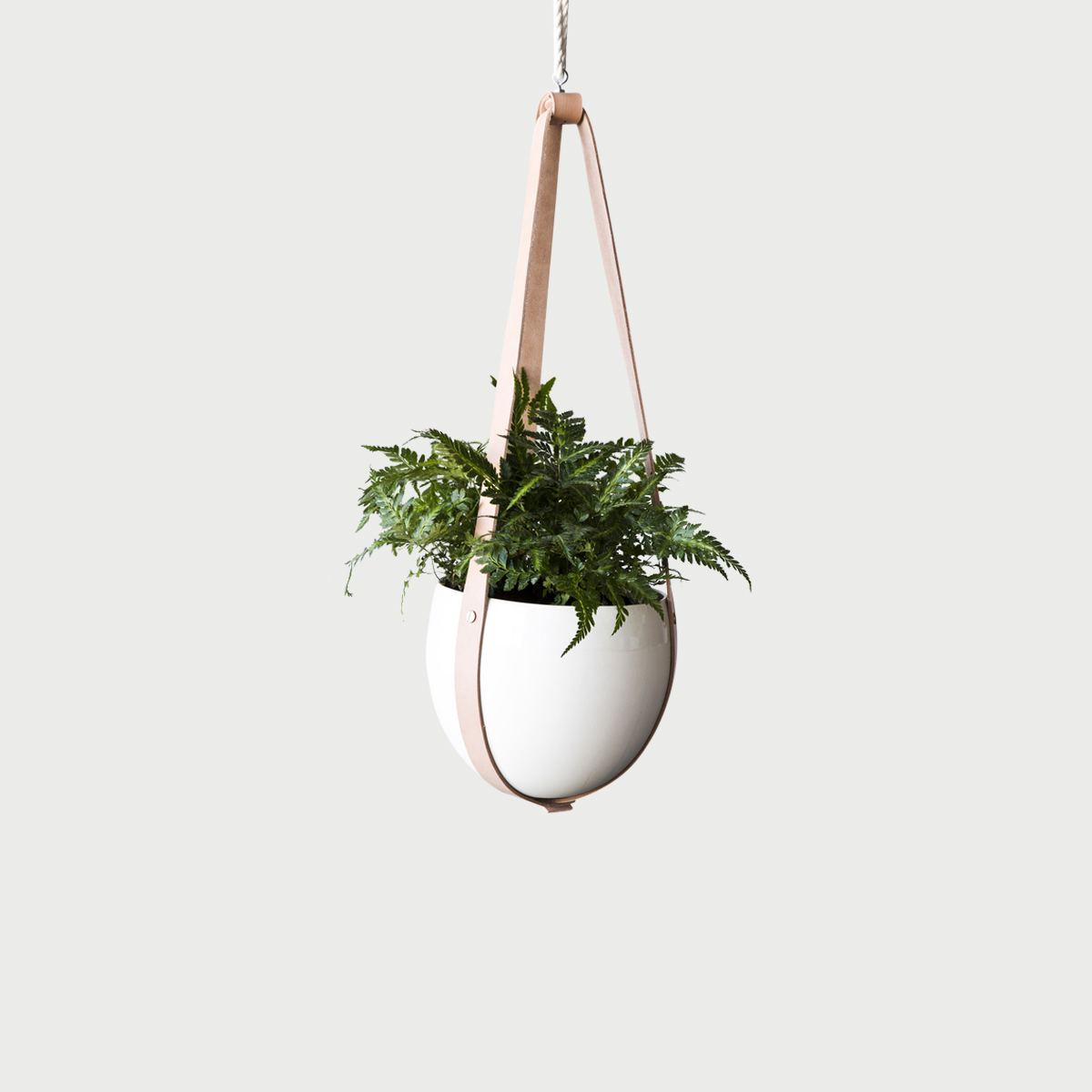 Farrah sit leather ceiling planter 1024