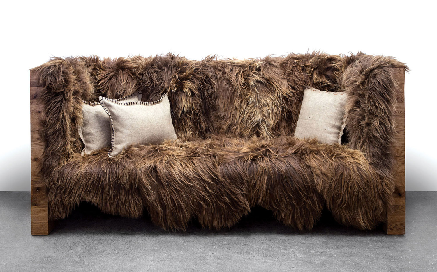 Long wool sofa sentient furniture new york