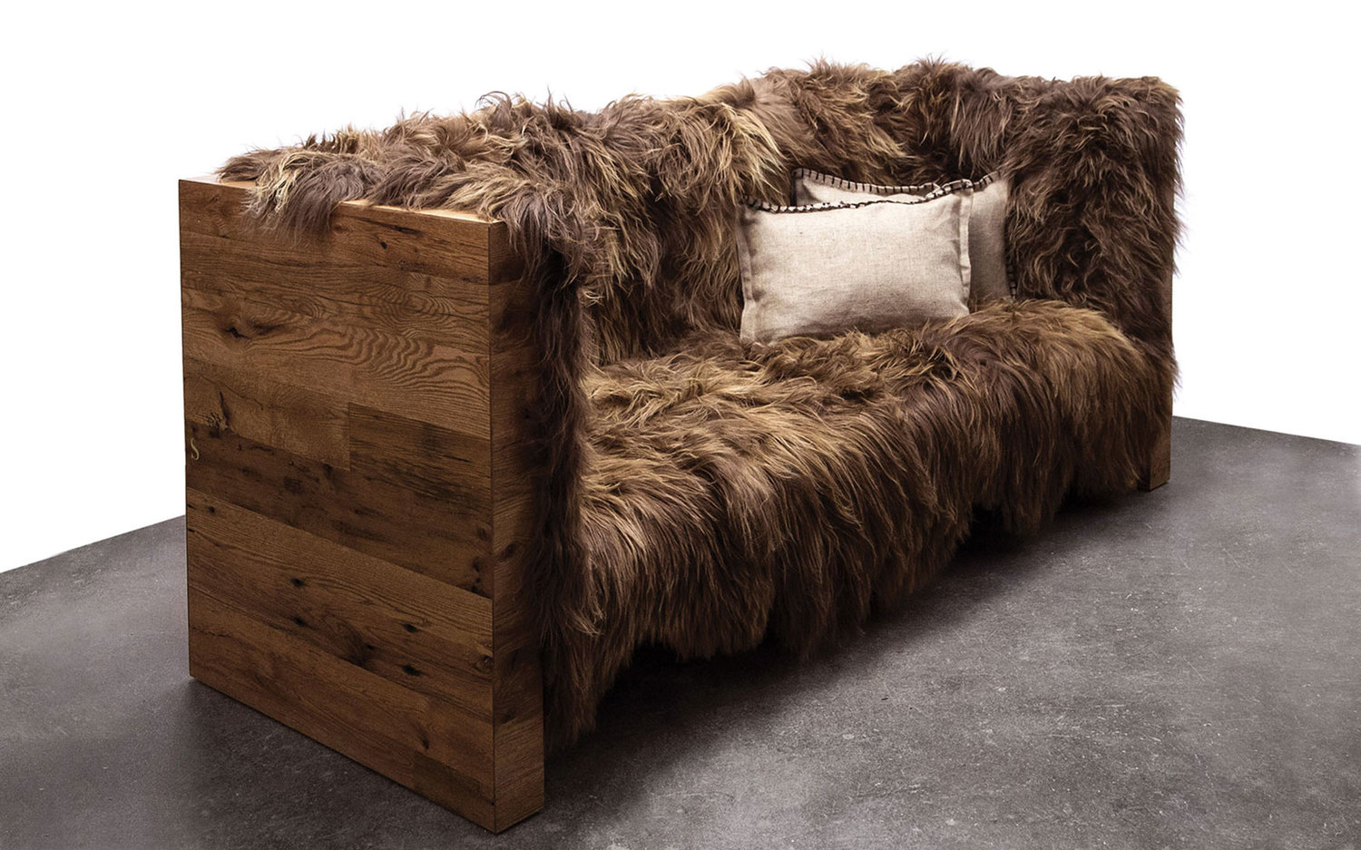 Long wool sofa sentient furniture new york 7