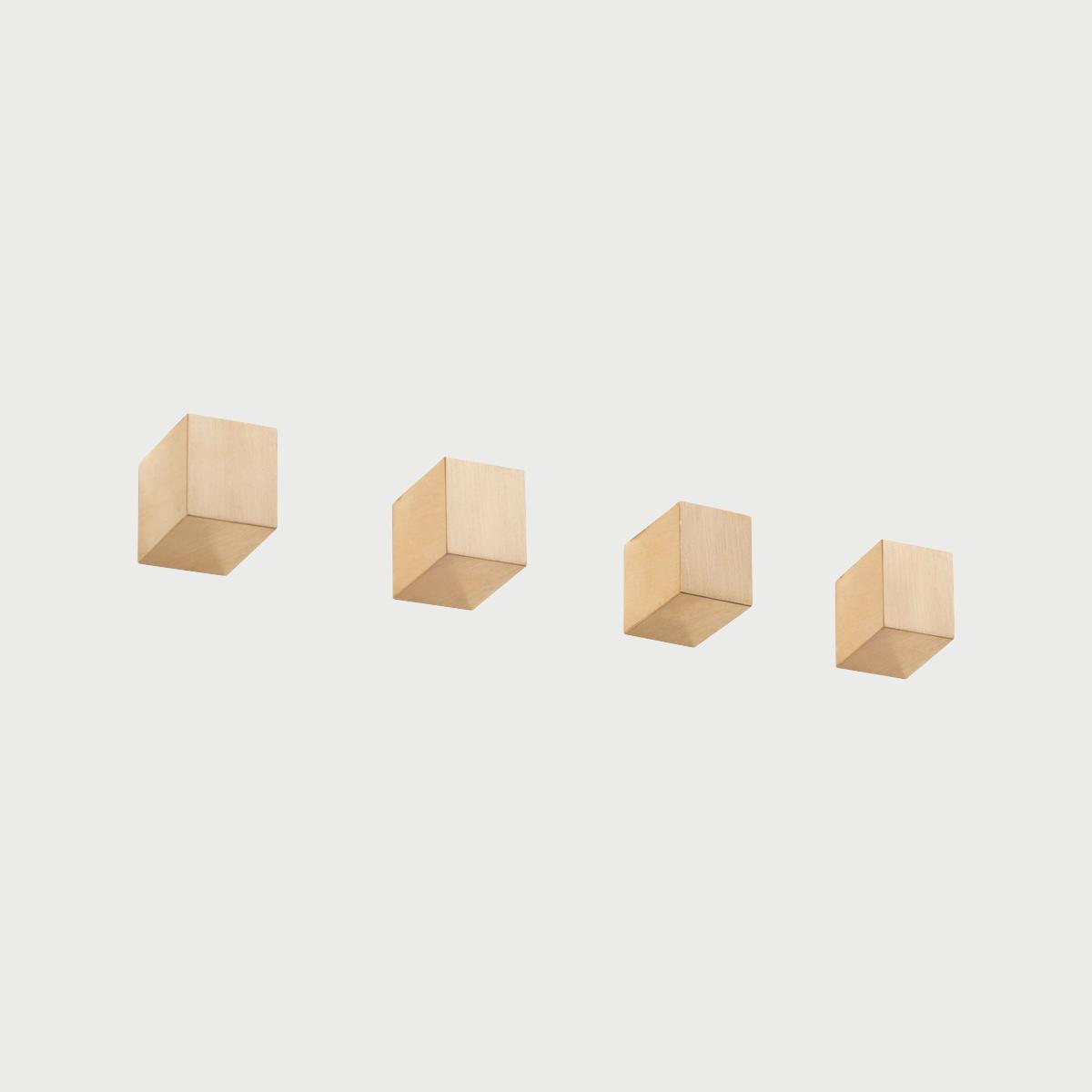 Brass 4 row square knobs