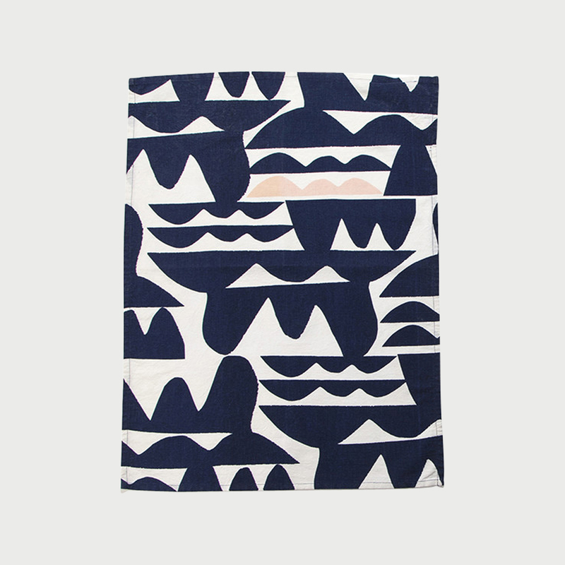 Alyson fox tea towels waves color