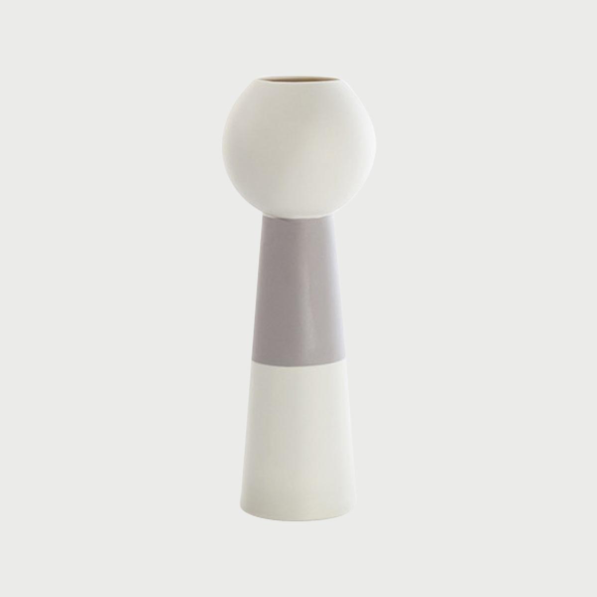 Versa vase down white grey