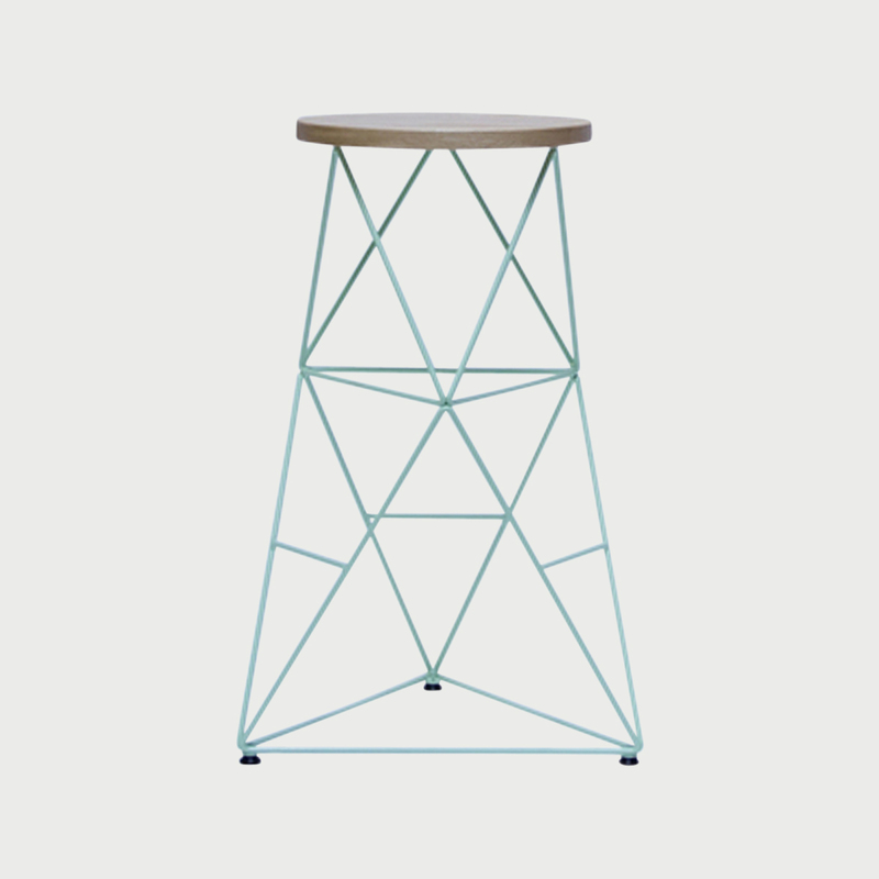 Octahedron stool   30   teal