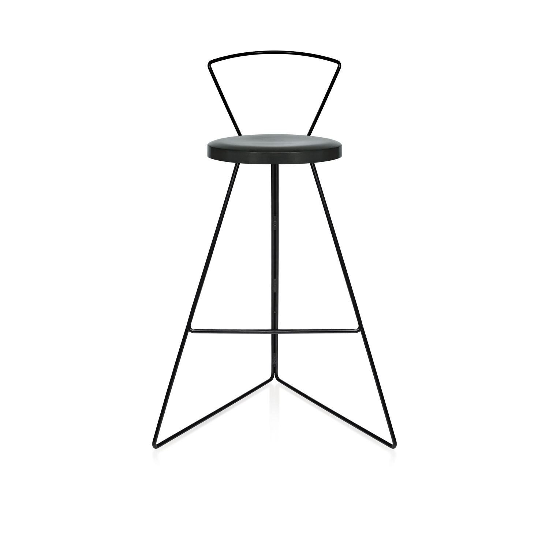 Charcoal seat black base front black backrest