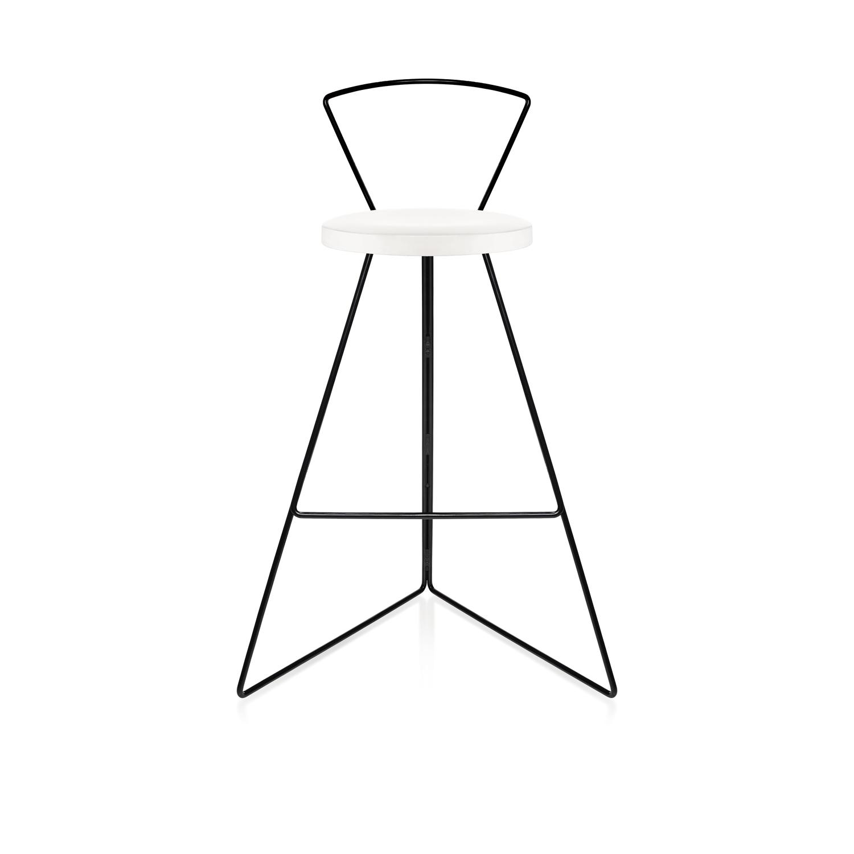White marble seat black base front black backrest