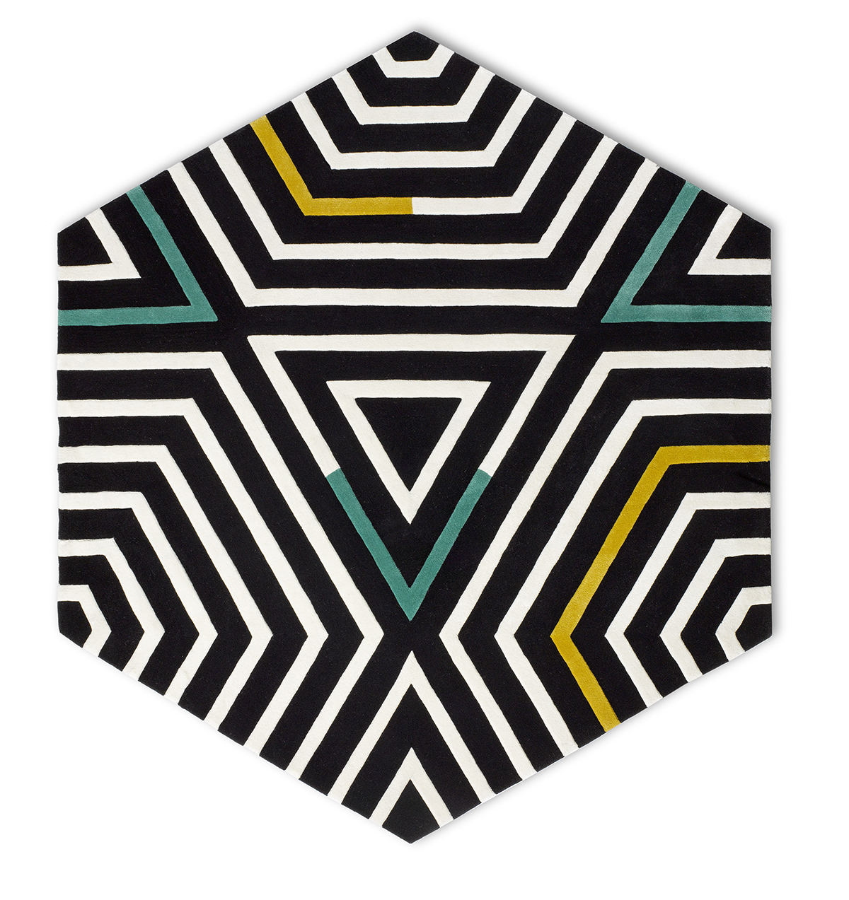 Groundb w zebra lrg hex