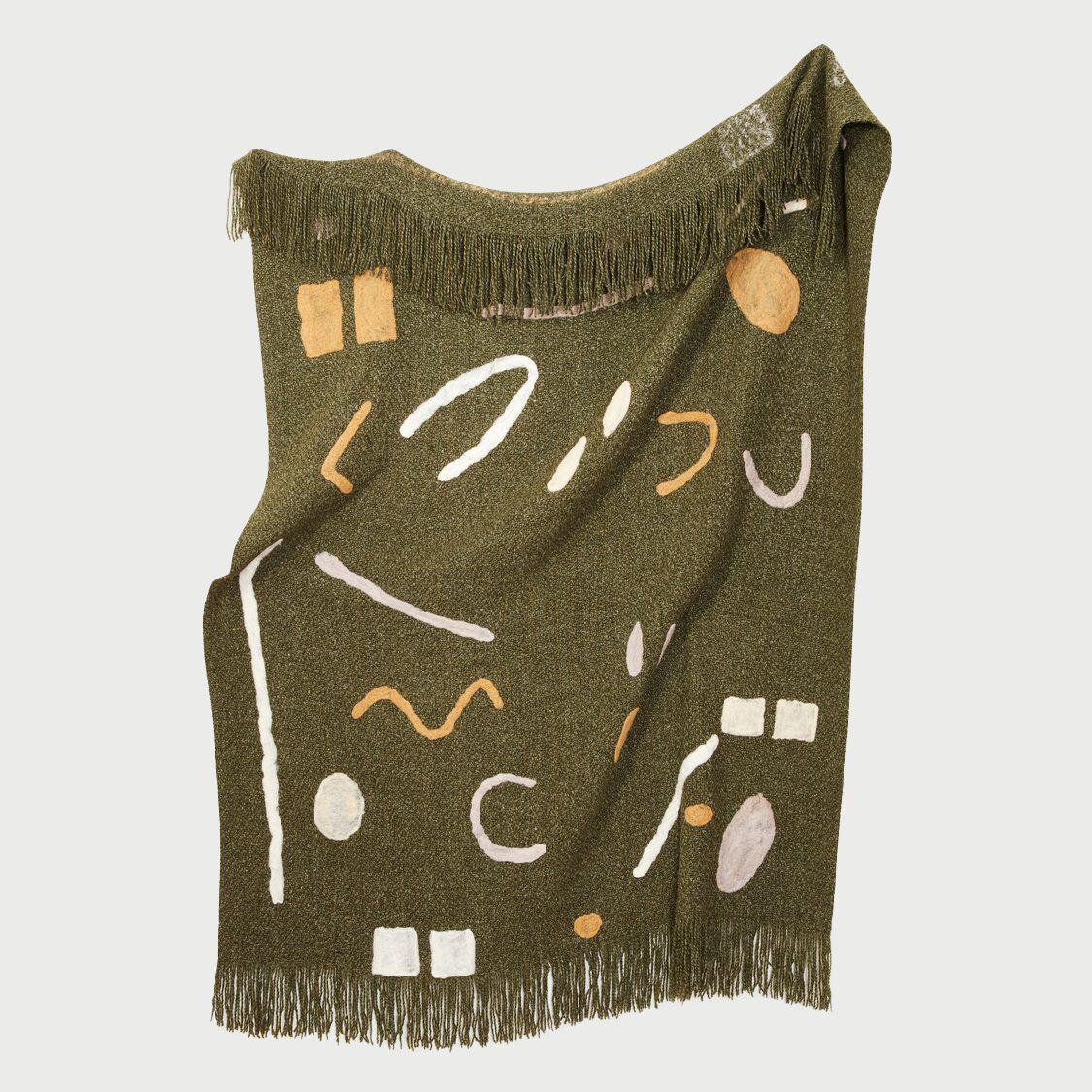 Minna abstract throw green preview