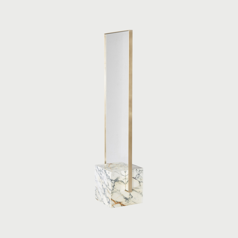 Coexiststandingmirror marbleandbrass angle slashobjects hi  282 29