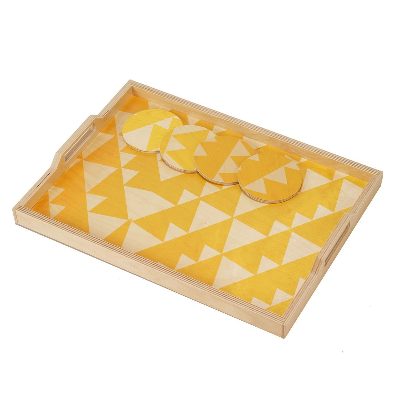 Wolfum yellow triangle tray 2