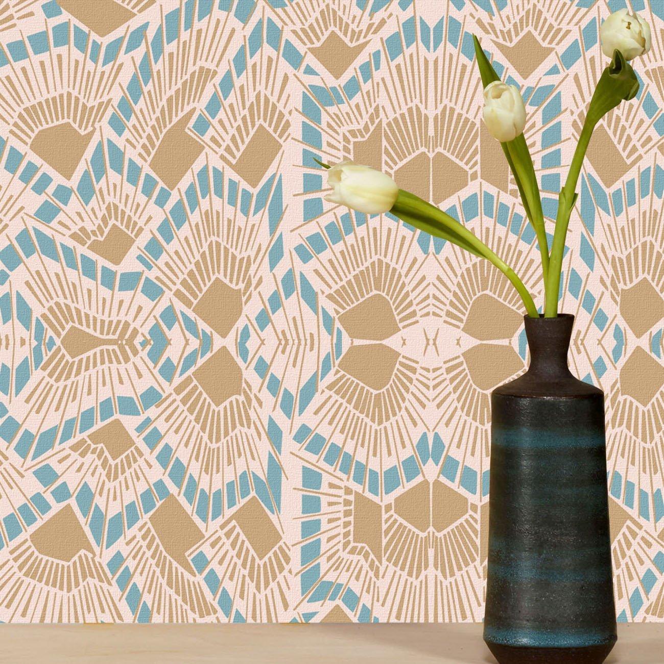 Wolfum deco pastel wallpaper2