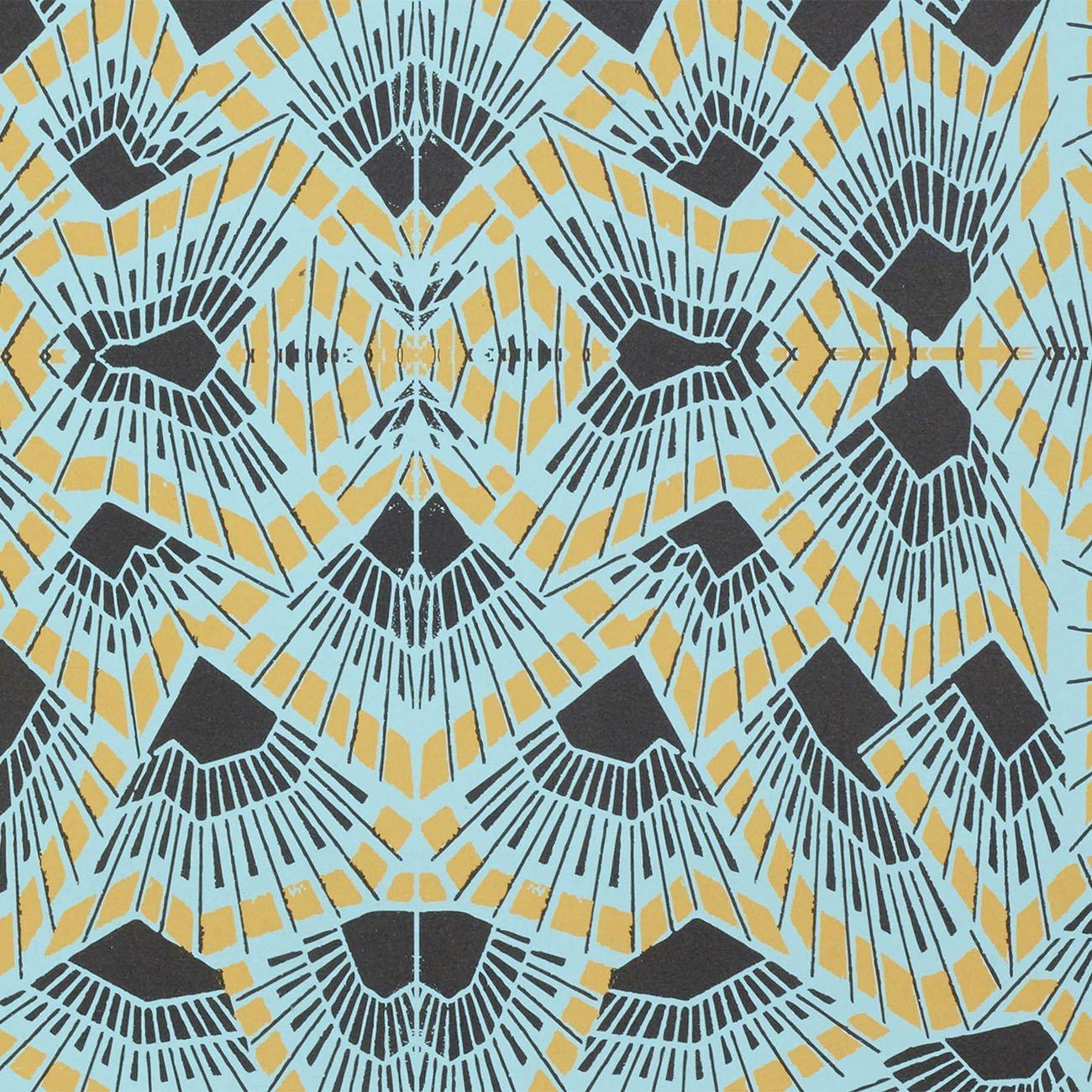 Wolfum deco blue wallpaper3
