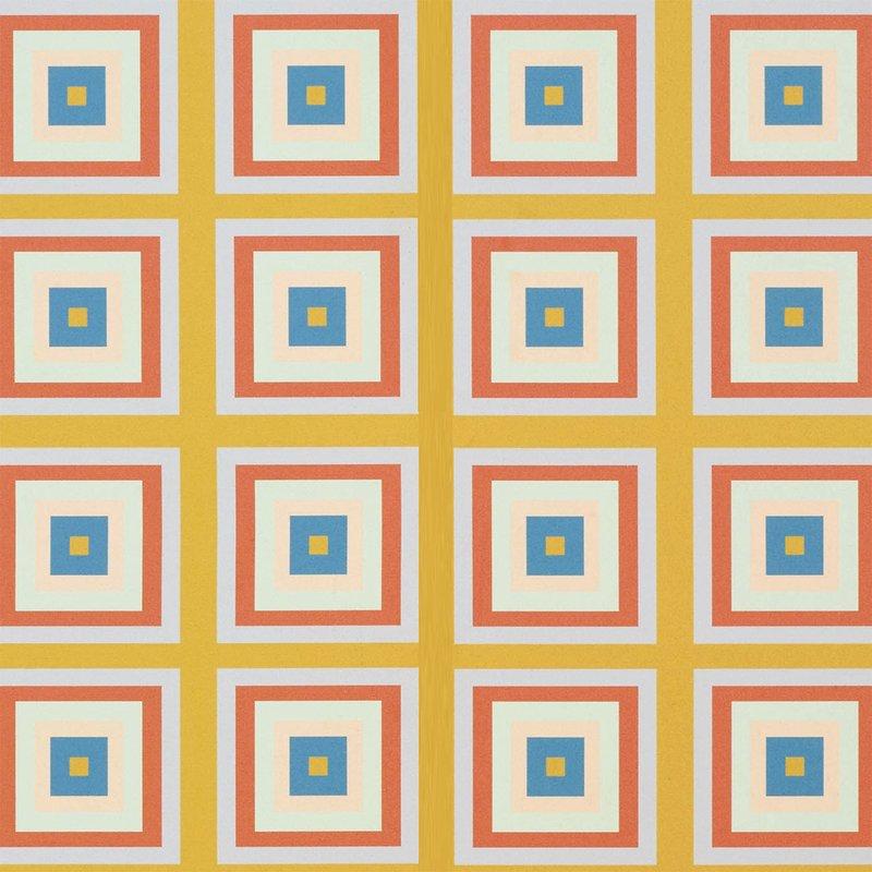 Wolfum squaresville mustard wallpaper3
