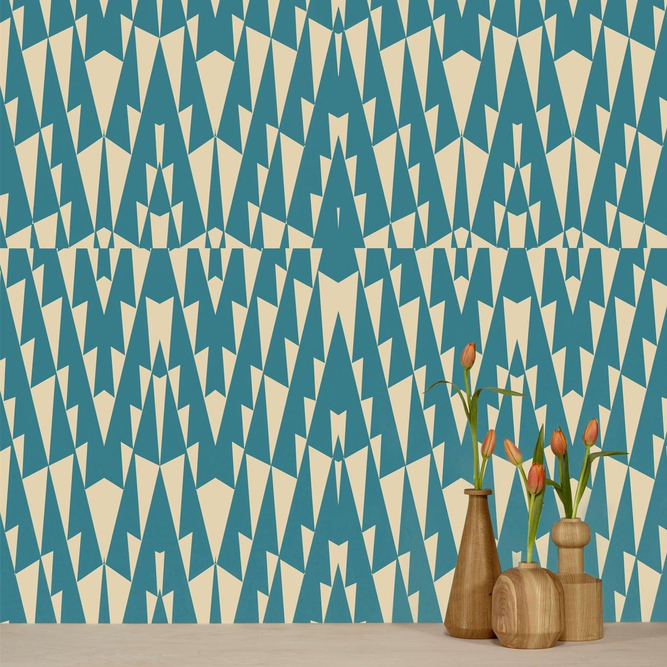 Wolfum triangle blue wallpaper1
