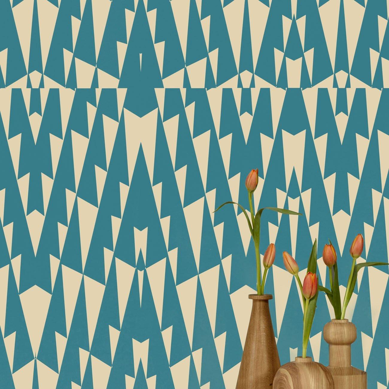 Wolfum triangle blue wallpaper2