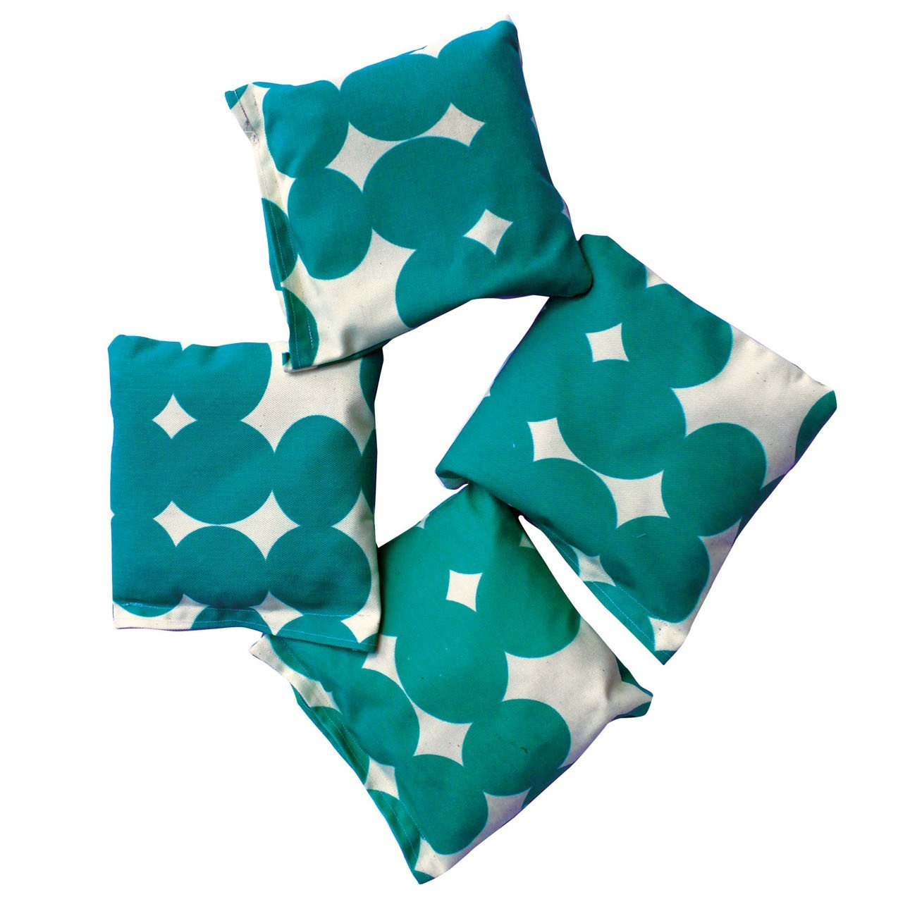 Wolfum teal dot bean bags