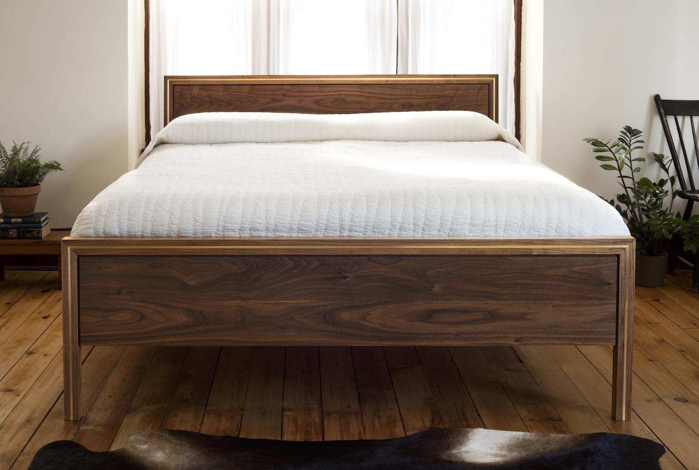 Hudson bed in situ walnut