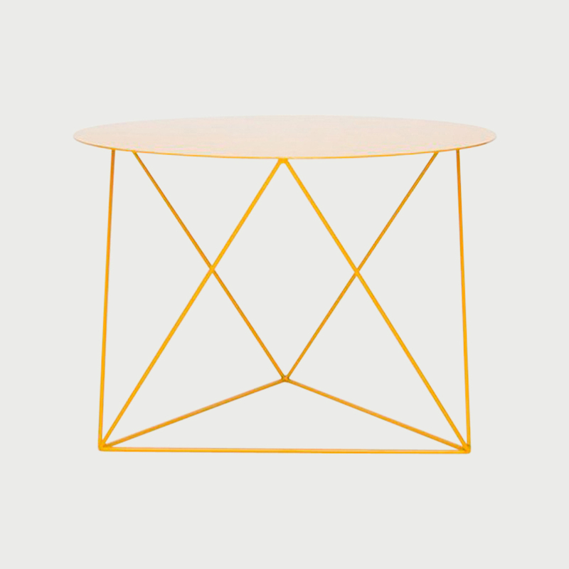 Octahedron side table   yellow