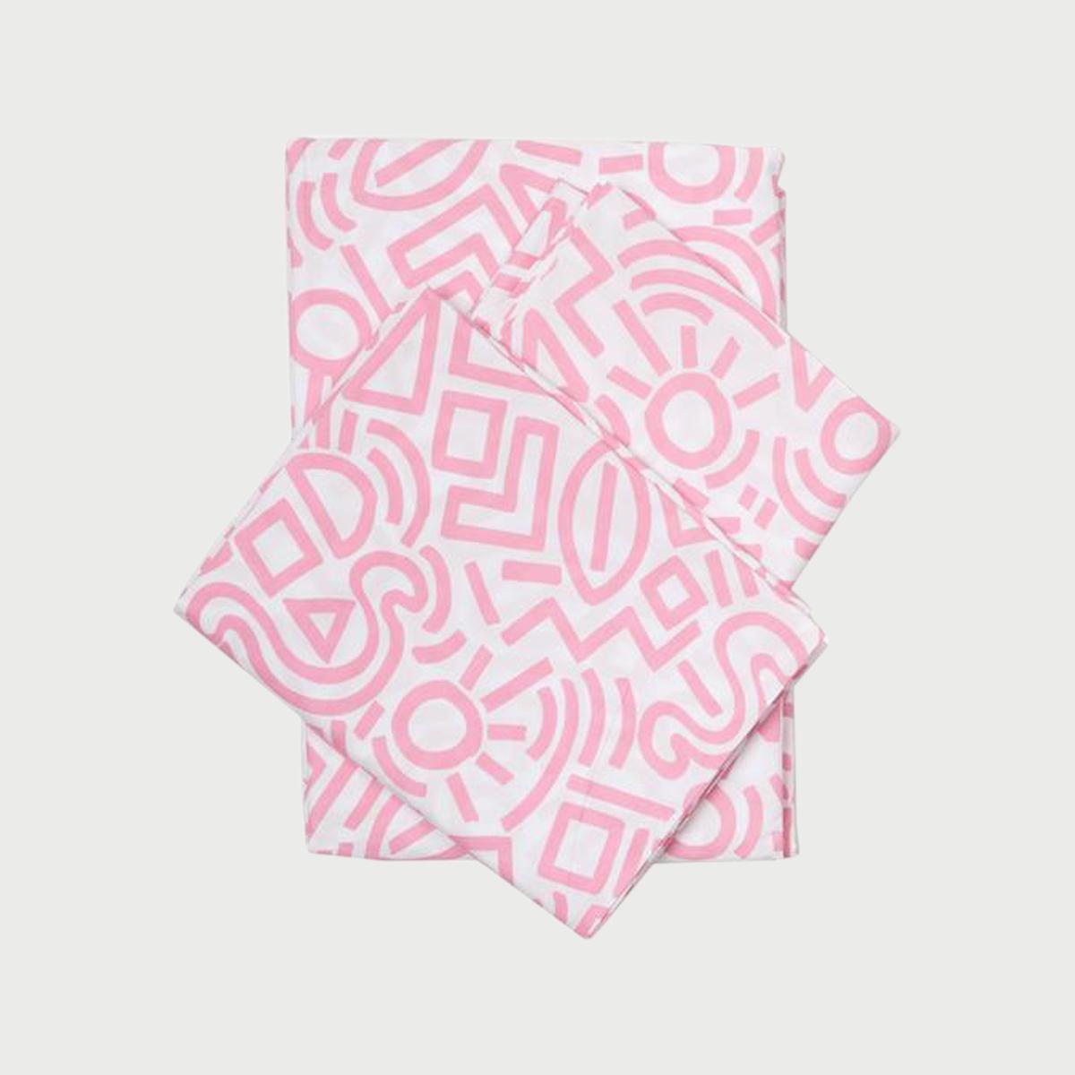 Doodle sheet pink