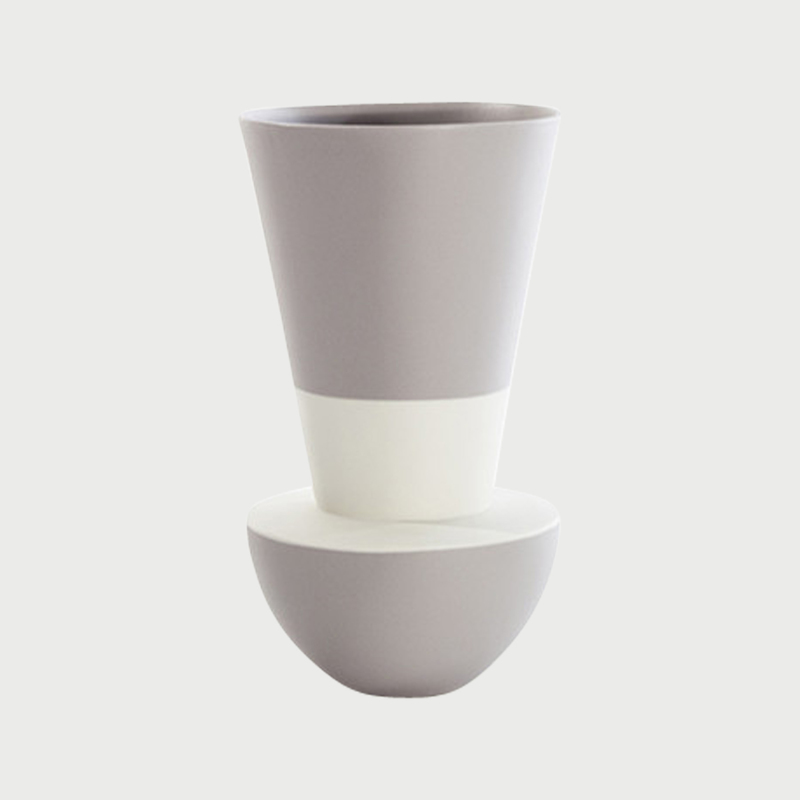 Versa vase up white grey