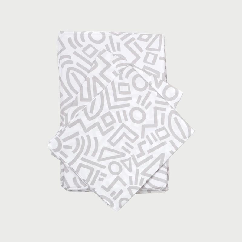 Doodle sheet set gray