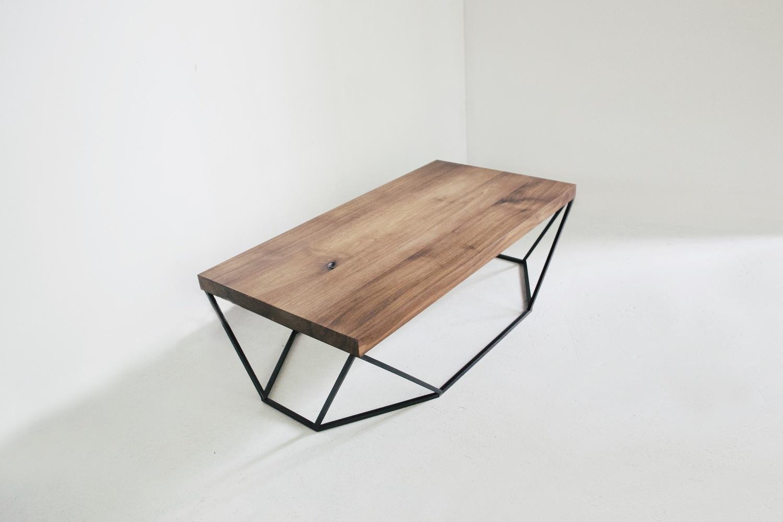 Dusk coffee table walnut blackened steel3