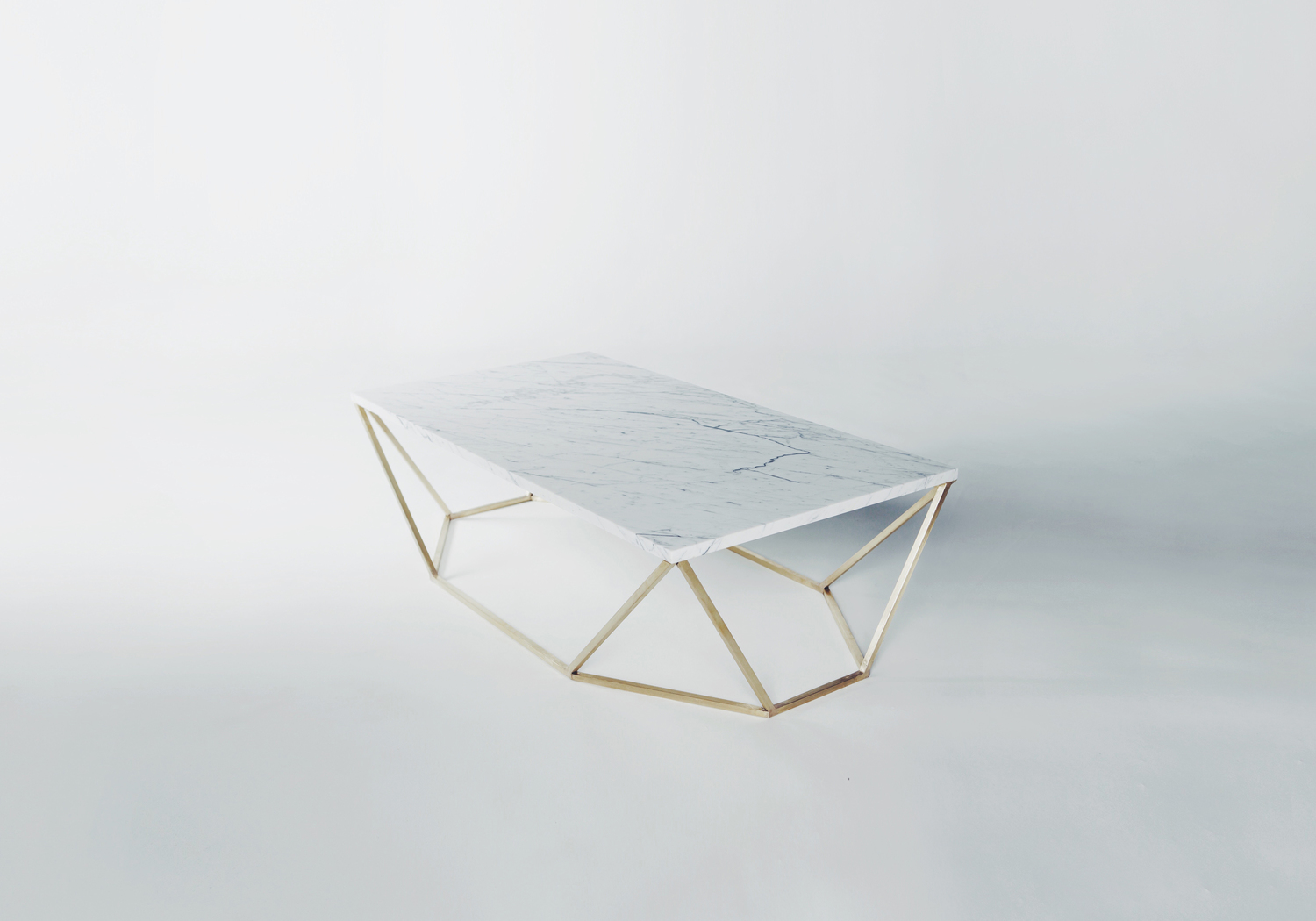 Dusk coffee table white brass2