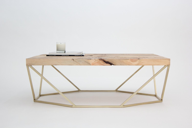 Dusk coffee table salvaged wood brass12
