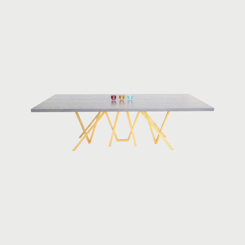 Blaze dining table powder coated