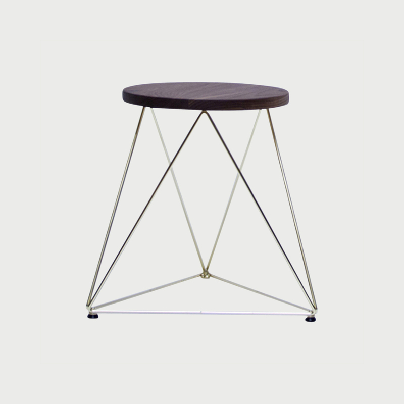 Octahedron stool   18   gold copy