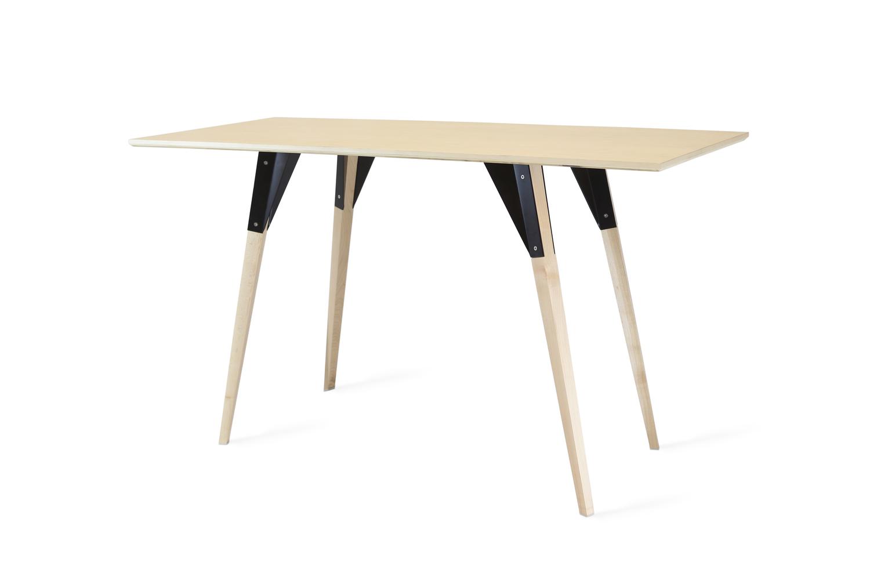 Clarke desk maple black