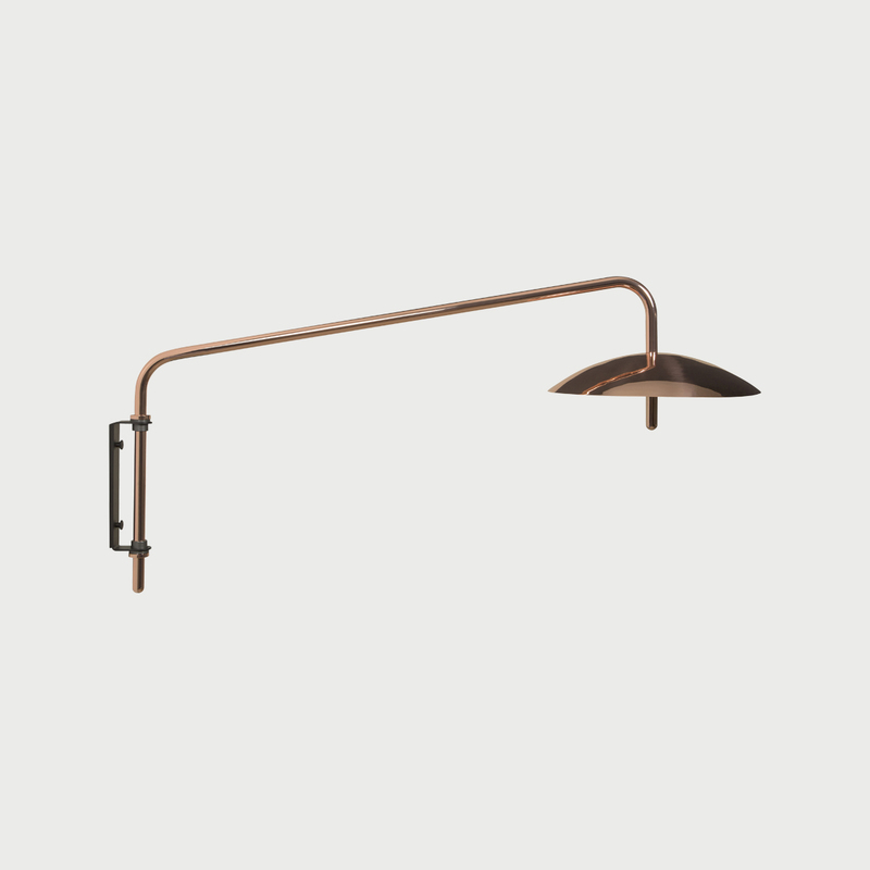 Copper signal contemporary swingarm sconce 4