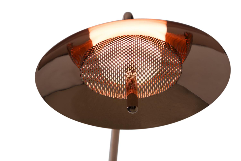 Copper signal contemporary arm sconce 2