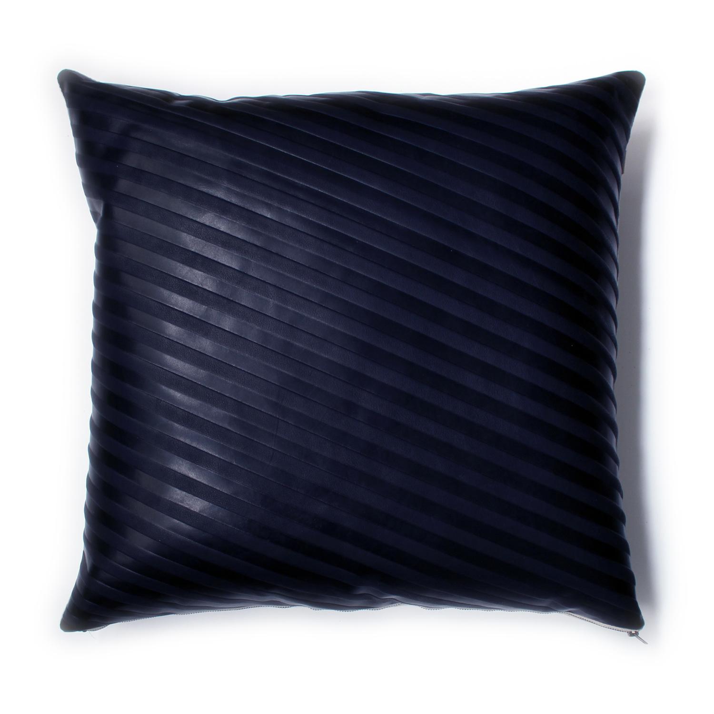 Avo set stripe emboss pillow 22x22 midnight