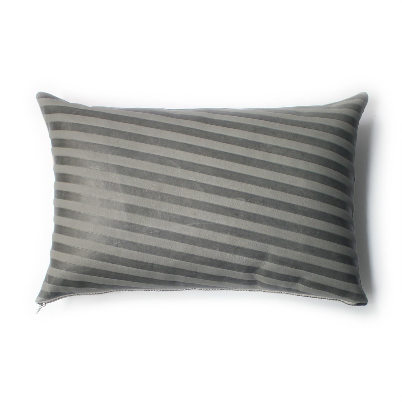 Avo set stripe emboss pillow 13x20 grey