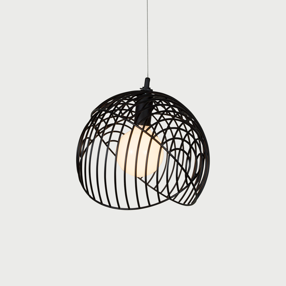 4 dana 1 black modern pendant cage light